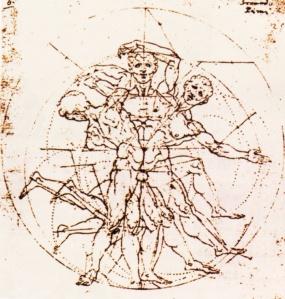 Carlo Urbino studio della cinetica del corpo umano codex Huyges XVI copie